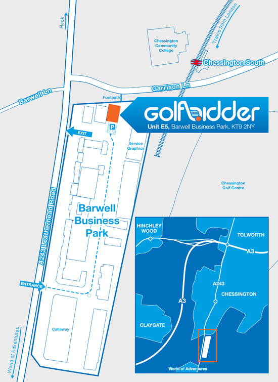 Map of Golfbidder Location